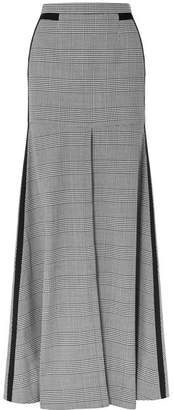 Hellessy Merritt Grosgrain-trimmed Houndstooth Tweed Maxi Skirt - Gray