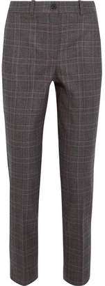 Michael Kors Collection - Samantha Checked Wool-blend Straight-leg Pants - Charcoal $795 thestylecure.com