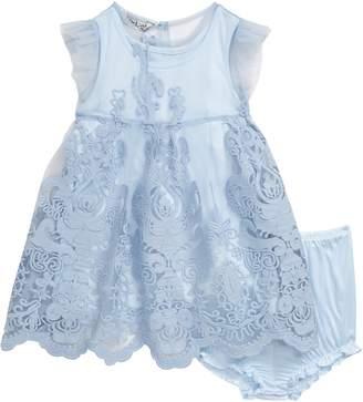 Pippa & Julie Embroidered Mesh Dress