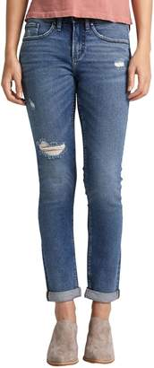 Silver Jeans Not Your Boyfriend's Distressed Jeans