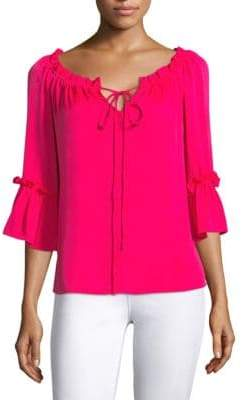Milly Silk Ruffle Blouse