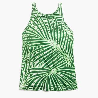 J.Crew New Balance® for Racerback tank top with built-in sports bra in palm print