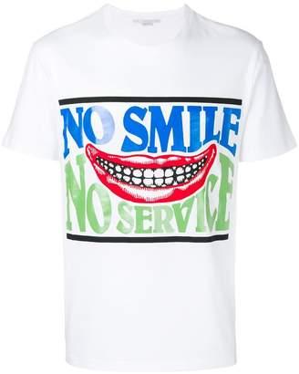 Stella McCartney No Smile No Service print T-shirt
