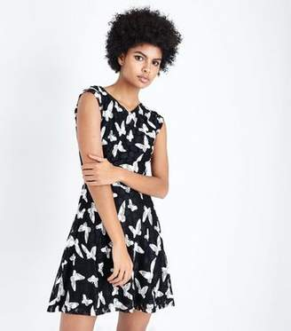 Yumi Black Butterfly Print Dress