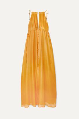Cult Gaia Agatha Silk-gauze Maxi Dress - Yellow