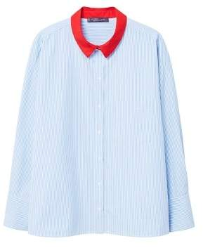 Violeta BY MANGO Contrast collar shirt