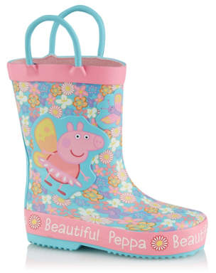 George First Walkers Blue Peppa Pig Wellington Boots