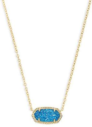 Kendra Scott Womens Elisa Pendant Necklace Gold/Cobalt Drusy One Size