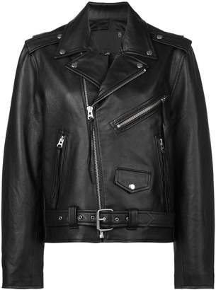 R 13 reversible leather jacket