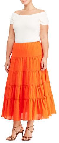 Lauren Ralph LaurenLauren Ralph Lauren Plus Cotton Gauze Skirt