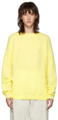 Acne Studios Yellow Dramatic Mohair Sweater