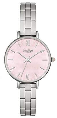 Lola Rose Women's Quartz Watch with Pink Dial Analogue Display and Silver Alloy Bracelet LR4011