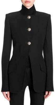 Alexander McQueen Bombe Wool Jacket