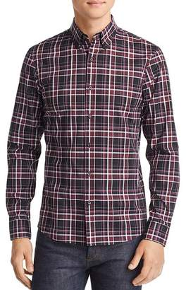 Michael Kors Bronte Plaid Stretch Slim Fit Button-Down Shirt