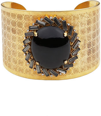 Juicy Couture Wide Stone Cuff Bracelet