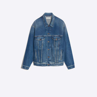 Balenciaga Japanese denim jacket with You Are The World back embroidery