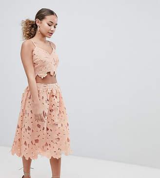 boohoo Crochet Lace Midi Skirt