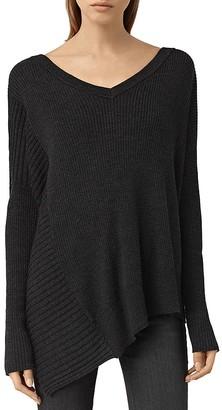 ALLSAINTS Keld Merino Wool V-Neck Sweater $230 thestylecure.com