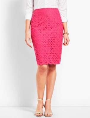 Talbots Scallop Pencil Skirt