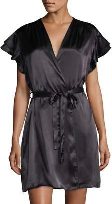 Oscar de la Renta Pink Women's Wrap Solid Robe