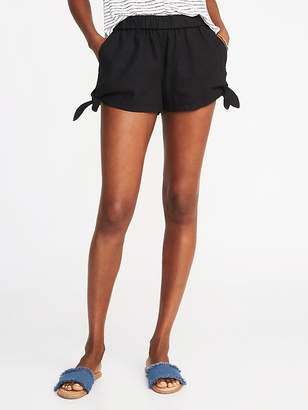 Old Navy Mid-Rise Tie-Hem Soft Shorts For Women - 3.5 inch inseam