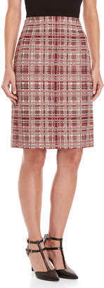 Carolina Herrera High-Waisted Tweed Skirt