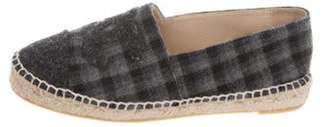 Chanel Plaid CC Wool Espadrilles Blue Plaid CC Wool Espadrilles