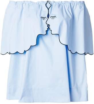 Vivetta off-shoulder flared blouse