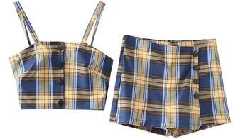 Goodnight Macaroon 'Simran' Plaid Buttoned Crop Top Skorts Co-ord