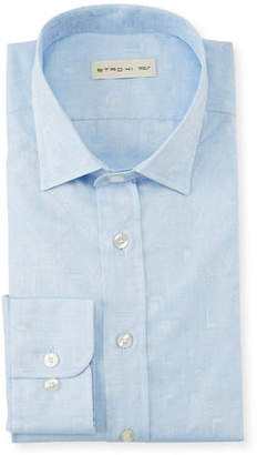 Etro Men's Mini Plaid Dress Shirt
