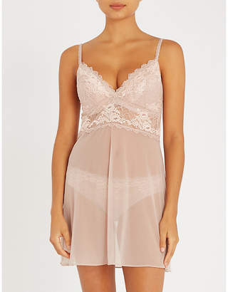 Wacoal Lace Perf stretch-lace and mesh chemise