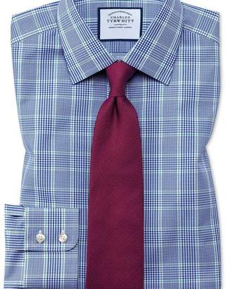 Charles Tyrwhitt Slim fit Prince of Wales check blue and green shirt