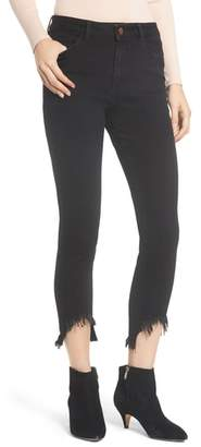 DL1961 Farrow High Waist Destroyed Hem Skinny Jeans