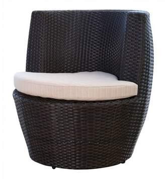 Abbyson Living Newport Outdoor Wicker Bistro Chair - Espresso