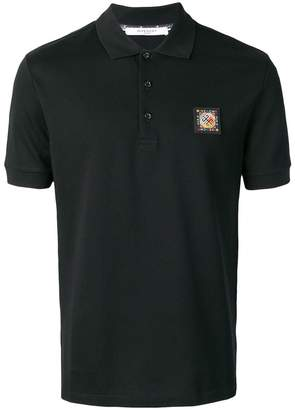 Givenchy logo short-sleeve polo top