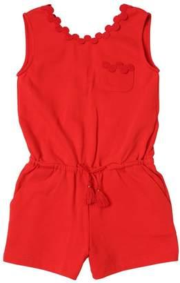 Chloé Sleevless Cotton Sweatshirt Jumpsuit