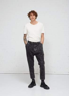Robert Geller Acid Washed Denim Pant