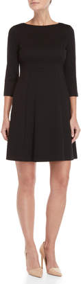 Vince Camuto Puff Knit Fit & Flare Dress