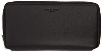 Rag & Bone Black Leather Zip Around Wallet