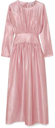 Deitas - Hermine Silk-satin Midi Dress - Pastel pink