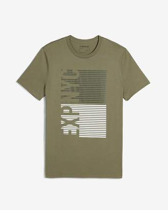Express Exp Nyc Ladder Graphic Crew Neck T-Shirt