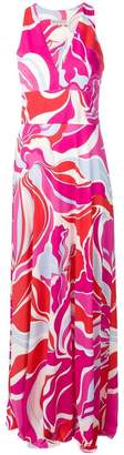 Emilio Pucci graphic print maxi dress