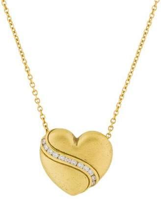 Paul Morelli 18K Diamond Heart Pendant Necklace