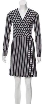 Tory Burch Striped Wrap Dress