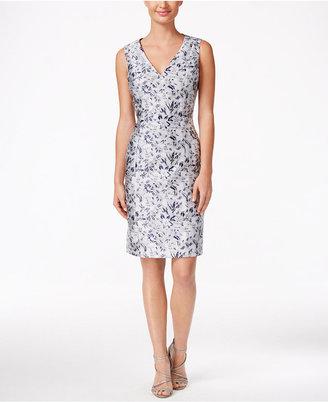 B Michael Floral Jacquard Sheath Dress $290 thestylecure.com