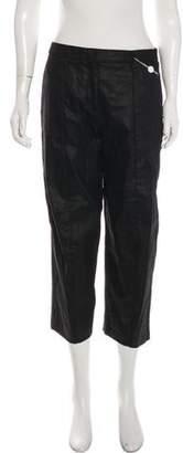 Maison Margiela Linen-Blend Mid-Rise Pants