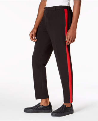 """INC International Concepts I.n.c. Men's Slim-Fit Side Stripe 28.5"""" Inseam Cropped Knit Pants, Created for Macy's"""
