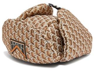 Prada Twist Jacquard Brocade Trapper Hat - Womens - Gold
