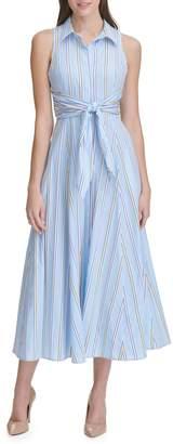Tommy Hilfiger Striped Cotton Maxi Dress