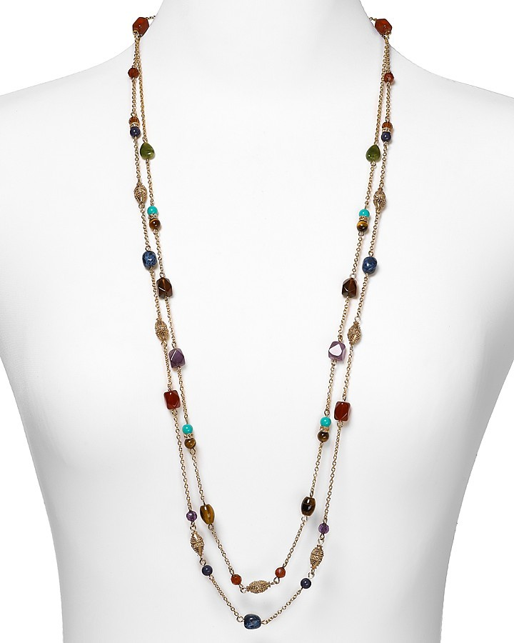 Lauren Ralph Lauren Color Bazaar Two Row Beaded Necklace, 36